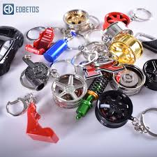 JDM Style Key ring Wheel Rim Keychain Brake disc with TE37 for ...