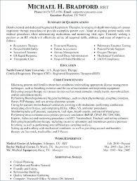 Respiratory Therapist Student Resume Radiation Therapy Student Resume Respiratory Therapist For Penza Poisk
