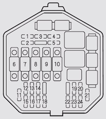 acura nsx fuse box under hood 2002 acura nsx (2002 2005) fuse box diagram auto genius on nsx fuse box diagram