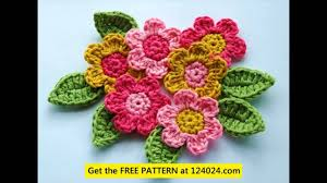Free Crochet Flower Patterns Magnificent Easy Crochet Flower Patterns For Beginners YouTube