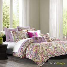 echo design vineyard paisley cotton 3 piece duvet cover set