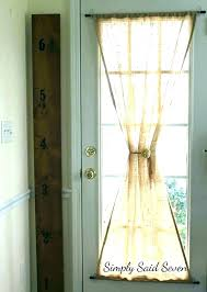 back door curtains for doors window wonderful curtain french treatment ideas