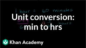 Minutes To 100ths Of An Hour Conversion Chart Converting Units Minutes To Hours Video Khan Academy
