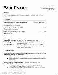 Sample Engineering Resume Resumes For Internship In Software Format