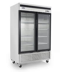 new used restaurant supplies equipment chicago tampa atosa mcf8703 commercial 2 glass door bottom mount freezer