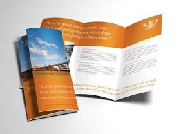 Indesign Trifold Brochure Template Industrial Mining Theme