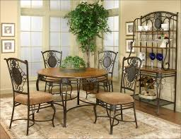 black wrought iron furniture. Antique Round Brown Teak Wood Adorable Iron Dining Room Chairs Black Wrought Furniture N