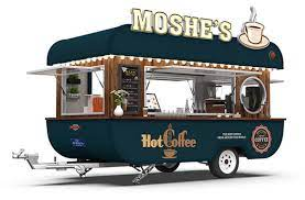 Beverage / coffee trailers for sale. Top Of The Line Model Moshe Mobile Coffee Trailer Jekeen Food Truck