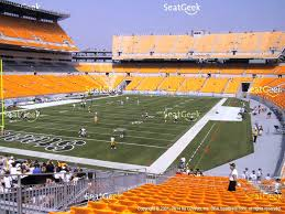 heinz field seating chart section view with row numbers