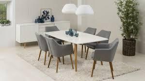 Esstisch Stühle Grau Stoff