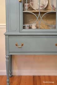 pictures of chalk painted furnitureBEFORE  AFTER My Thrifted China Cabinet Makeover