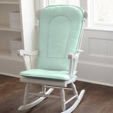 solid mint rocking chair pad