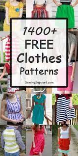 fabric crafts free clothes sewing patterns tutorials and diy projects for women kids