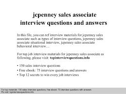 Jcpenney Associate Jcpenney Sales Associate Interview Questions And Answers