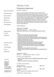 Resume Samples For Manufacturing Jobs Resume Templates For