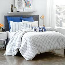 stripe duvet cover set navy and white single twin rugby