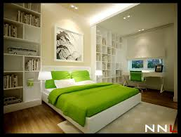 modern bedroom green. Green White Bedroom Modern D
