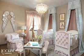 Marvelous Baby Twins Bedroom Pink Twin Nursery With Silver Angel Wings Project Nursery  Baby Twin Girl Bedroom . Baby Twins Bedroom Pretty Design Twin Baby  Furniture ...
