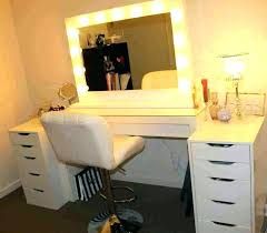 mirror and lights ikea dressing table vanity desk with modern makeup lamp