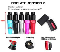 Rocket Ii Rotary Cartridge Tattoo Pen Led Light Space Aluminum