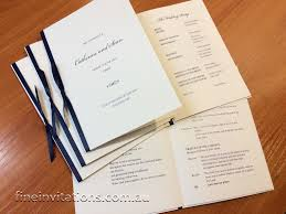 Wedding Booklet Template Order Of Service Booklets Fine Invitations Sydney