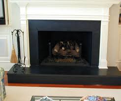 absolute black honed granite install fireplace