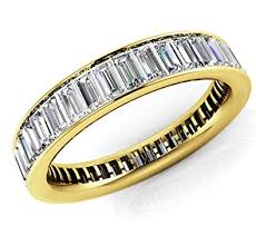 Baguette Diamond Size And Weight Chart Amazon Com 18k Yellow Gold 1 5ct Baguette Diamond Si1 Si2