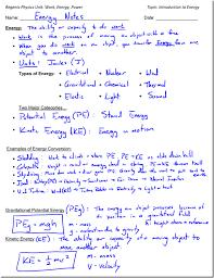 calculating potential energy worksheet