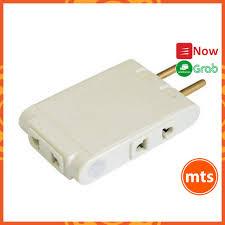 Đầu nối chia 3 ổ cắm Vinakip điện dẹt 1 ra 3 cổng 10A 250V đầu nối không  dây màu trắng - Minh Tín Shop - Ổ cắm điện