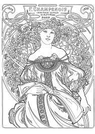 Art Nouveau 55484 Art Nouveau Disegni Da Colorare Per Adulti