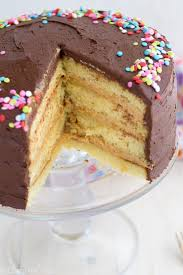 Perfect Yellow Layer Cake Peanut Butter Filling Chocolate