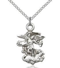 st michael the archangel pendant gold