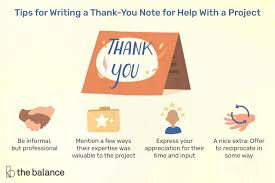sle thank you letters for help with
