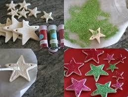 Weihnachtsbaumschmuck Basteln Kindern Salzteig Sterne