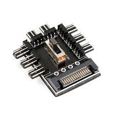 SATA Fan <b>1 to 8</b> Channel Hub 12V <b>3Pin</b> Power Supply Splitter ...