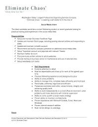 Social Mediaordinator Resume Resumes Template Job And Manager Format