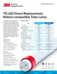 T8 Led Direct Replacement Ballast Compatible Tube Lamp 3m