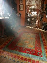 view in gallery bohemian rug painted on bedroom floor jpg