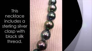 <b>Black Pearl</b> Tahitian Necklace <b>Real</b> Baroque Cultured Pearls ...