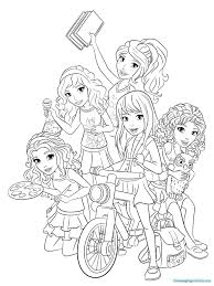 Some elves are older and have long beards like to santa. Lego Friends Coloring Pages Coloring Rocks