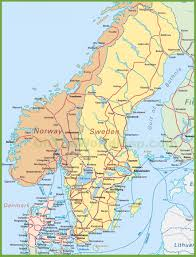 map of sweden norway and denmark