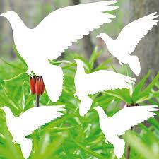 2 Sets Weiß Taube Vogelschreck Vogelschutz Vogelabwehr Fenster