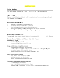 pleasant musician resume objective with additional church musician