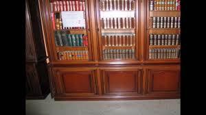 antique bookshelves with glass doors