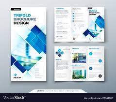 Tri Fold Brochure Online Design Tri Fold Brochure Design With Square Shapes