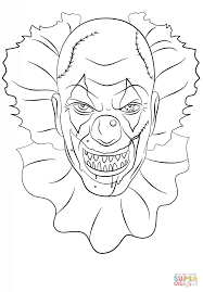 Scary Coloring Pages Scary Clown Coloring Page Free Printable ...