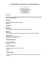 Resume For Beginners With No Experience Basic Sample Resume For No Experience Gentileforda 7