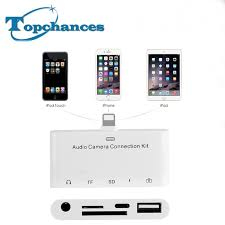 for lightning audio connection kit 5in1 with tf sd card reader 3 5mm aux