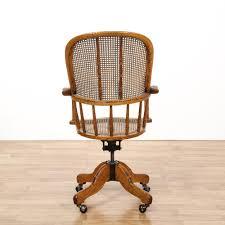 oak wicker swivel desk chair loveseat vintage oak swivel desk chair mission style