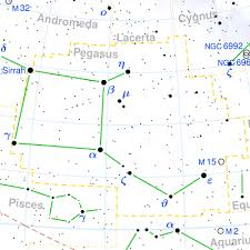 Pegasus Star Chart Constellation Pegasus The Constellations On Sea And Sky